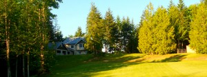 Shibir location: chateau in Chimacum, WA, nestled in 20 acres of private greens